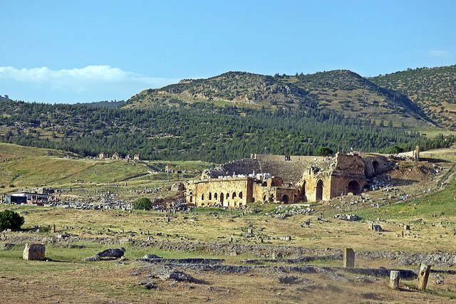Gate of Hell in Hierapolis,  with a cloud of deadly carbon dioxide